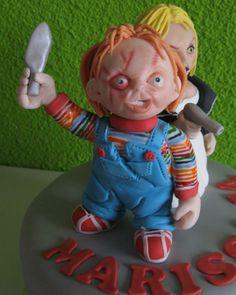 Chucky fondant - Taartmama.nl