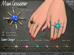 Maxi Gossamer Rings - Night Star Cross - #Secondlife