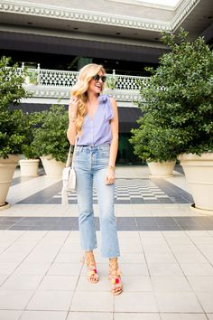 May Must-Have List   Poms Sandals, Cropped Denim and Striped Tops