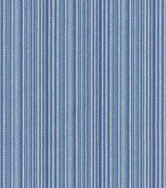 Waverly Upholstery Fabric-Cozy Up Stripe/Denim