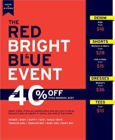 Huge Gap sale this weekend