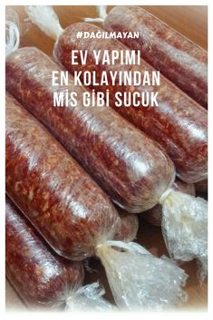 Homemade Easiest Sausage (Non-Dispersing) – Yummy Recipes - quote. Yummy Recipes, Cooking Recipes, Carne, Turkish Kitchen, Good Food, Yummy Food, Comfort Food, Healthy Eating Habits, Breakfast Items