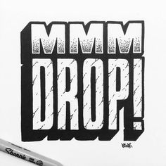 Kick it over here baby pop and let all the fly skimmies feel the beat...mmm drop  Type by @rigourstudio  #typegang - typegang.com | typegang.com #typegang #typography