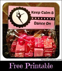Keep Calm & Dance On Bag Topper Printable...