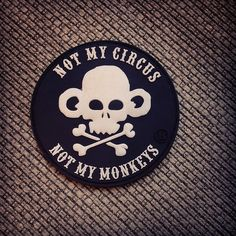 """Don't get involved - distance yourself from the fools...    3"""" Velcro-backed PVC morale patch. ."""