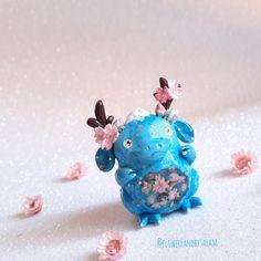 Sakura dragon. N°3/30 Polymer clay and resin. https://www.zibbet.com/flowerlandbysaram