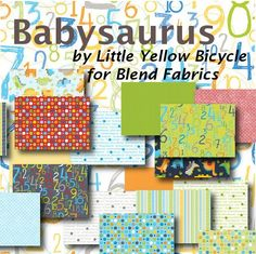 dinosaur fabric for quilts | ... now} Babysaurus from Blend Fabrics – FabTalk - It's All About Fabric