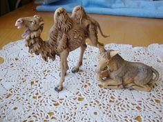 Vintage Fontanini  Animals Camel and Donkey Nativity by LotzOStuff