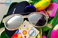 Nuova collezione #occhiali da sole #ItaliaIndependent primavera/estate 2015. Splendide montature dal design ricercato, come questa con piccole macchiette multicolor. #sunglasses #eyewear