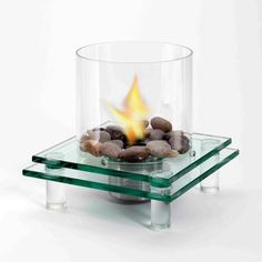 Find it at the Foundary - EcoFlame 2 Layer Architectural Glass Fireplace Tabletop Fireplaces, Fire Pots, Home Panel, Outdoor Ceiling Fans, Outdoor Lighting, Fireplace Accessories, Commercial Architecture, Home Repair, Earth Tones