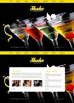 Shake Bartender Flash Templates by Di School Website Templates, Flash Templates, Drupal, Cooking School, Bartender, Shake, Education, Blog, Smoothie