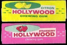 Les Hollywood de l'époque ... Fraîcheur de vivre Hollywood chewing gum au goût très frais ......