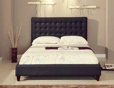 Black Leather Bed designed by U.S Pride Furniture ($212.86)