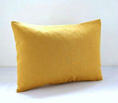12 x 16 inch mustard accent decorative pillow by LittleJoobieBoo