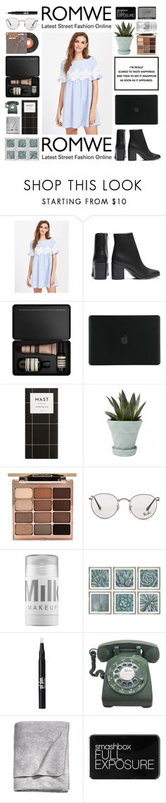 """""""#638 Romwe contest"""" by mia5056 ❤ liked on Polyvore featuring Aesop, Tucano, Chive, Janis, Stila, Ray-Ban, MILK MAKEUP, William Stafford, H&M and Smashbox"""