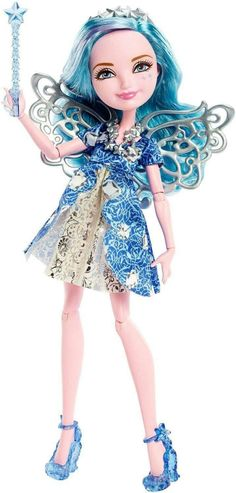 Farrah Goodfairy Ever After High Doll, 2015 - This is the debut Farrah doll. She is the daughter of The Fairy Godmother from Cinderella. She is very fashion-driven and is an intuitive individual among her peers. She can tend to be quite assertive.