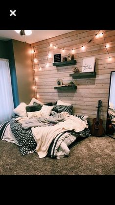 dream rooms for adults ; dream rooms for women ; dream rooms for couples ; dream rooms for adults bedrooms ; dream rooms for girls teenagers Comfy Bedroom, Bedroom Inspo, Dream Bedroom, Bedroom Themes, Diy Bedroom, Warm Cozy Bedroom, Modern Bedroom, Wooden Wall Bedroom, Trendy Bedroom
