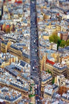 Les rues de Paris vues du ciel
