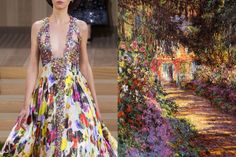 Match #327Chanel Haute Couture Spring 2016 |A Pathway in Monet's Garden, Giverny by Claude Monet, 1902More matches here