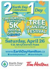 7th annual walk, run & clean-up to raise funds for environmental education and planting programs. The route winds through the park and the local community and ends up back at the park where the 18th annual Earth Day Tree Planting Festival.  Give a little, give a lot, or just come out and walk and be with your community.     Register at:  http://earthdayhamilton.ca/2011/events/earth-day-walk/walk-registration