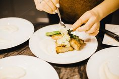 Plating seafood dish by Sean Berrigan Photography on Creative Market Chilean Sea Bass, Seafood Dishes, Asparagus, Plating, Drinks, Creative, Photography, Drinking, Beverages