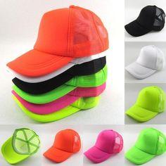 Neon mesh cap baseball hat multi colors 5pcs/lot