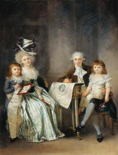 Fig. 82: Marguérite Gérard, Portrait of the Architect Ledoux and his Family, ca. 1787-1790, oil on wood, 30.5 x 24.1 cm (Baltimore)