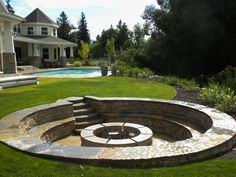Thinking about adding a fire pit to your backyard? Here are some important things to consider before you buy or build a fire pit. Sunken Fire Pits, Diy Fire Pit, Fire Pit Backyard, Backyard Patio, Backyard Landscaping, Landscaping Ideas, Sunken Patio, Backyard Seating, Backyard Projects