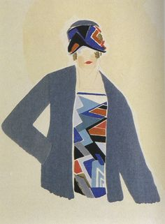 Projects for dress by Sonia Delaunay, 1924-1925