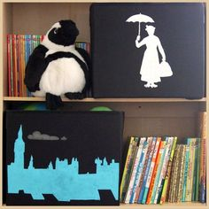 DIY Mary Poppins-inspired Toy Bins