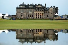 THE OPEN !!!    A reflection of The Royal and Ancient Golf Club of St Andrews Clubhouse during the British Open...