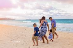 Hawaiian walk down the beach. Family Photography.   www.LifesongDesigns.com  #LifesongDesigns #storyteller #captureeverymoment