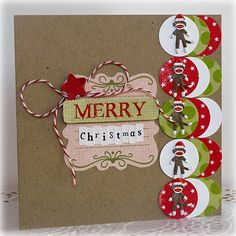 Merry Christmas *Eyelet Outlet* - Scrapbook.com - #scrapbooking #cardmaking #bazzillbasics