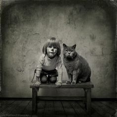 A girl and her cat  We are Cats  By Andy Prokh See more images at http://halopets.com/freekibble/donation97.html