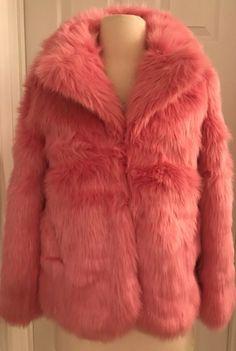 d05156ad332ed eBay  Sponsored J.CREW FACTORY CREWCUTS GIRLS  FAUX FUR COAT COAT SIZE 10  PINK H1097