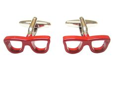 Red Glasses Cufflinks * Check this awesome product by going to the link at the image.