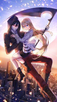 Satsuriku no Tenshi (Angels Of Death) Image - Zerochan Anime Image Board Couple Manga, Anime Love Couple, Anime Couples Manga, Manga Anime, Angel Of Death, Angel And Devil, Anime Angel, Sarada Y Sasuke, Fille Anime Cool