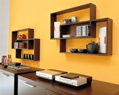 stunning rectangular wooden wall shelves design ideas combined with modern chocolate cabinet storagesjpg 1119900
