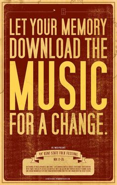 Let your memory download the music for a change.
