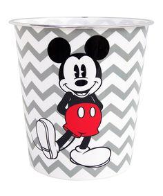 Gray Chevron Mickey Wastebasket By Mickey Mouse U0026