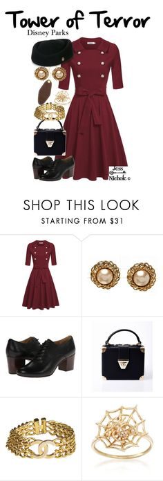 """Tower of Terror"" by jess-nichole ❤ liked on Polyvore featuring Chanel, Frye, Ross-Simons and vintage"