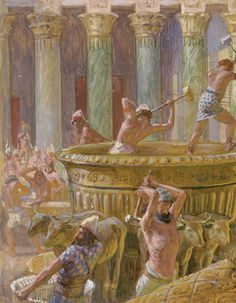 King Solomon took precautions. In the eventuality that Jerusalem was taken, Solomon loaded the Temple with treasure. He would laden his enemies with treasure the likes of which their eyes have never beheld, BUT THEY MUST NOT FIND THE ARK.