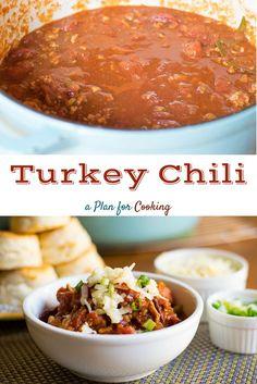 Turkey Chili spicy and delicioushttp://www.aplanforcooking.com/turkey-chili/