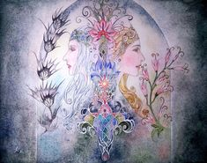 Miriel Therinde (Serinde) & Indis Calima by Askwen (Nasca)
