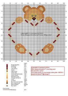 Coeur écriture - Point de croix - Blog : http://broderiemimie44.canalblog.com/