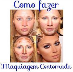 Maquiagem contornada