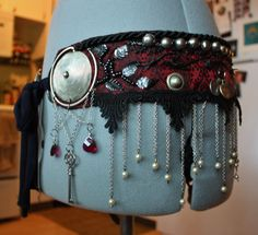 Custom Bellydance Belt Tribal Fusion Belly Dance by theverdantmuse, $250.00