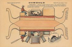 Gondola: Free printable vintage papercraft. Great for a diorama or educational…