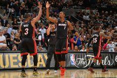 Dwyane Wade, Chris Bosh, Mario Chalmers, Miami Heat, 2014 NBA Finals