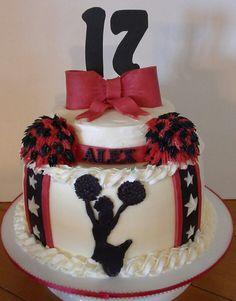 Cheerleading cake for Alex  :)